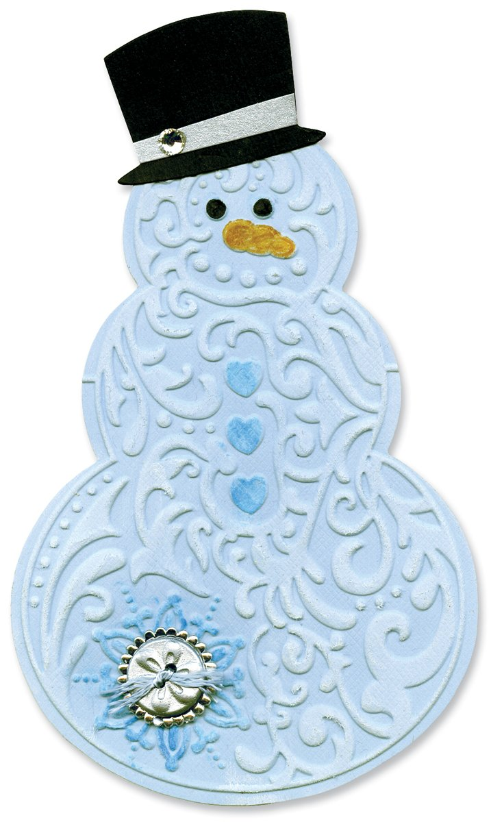 Sizzix Bigz Die with Bonus Textured Impressions - Snowman & Hat by Beth Reames