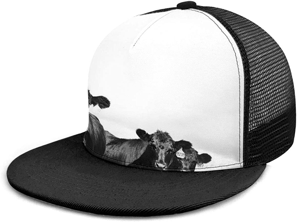 Boys and Girls 100/% Polyester The Black Ox Mesh Cap Cool Snapback Hat for Unisex