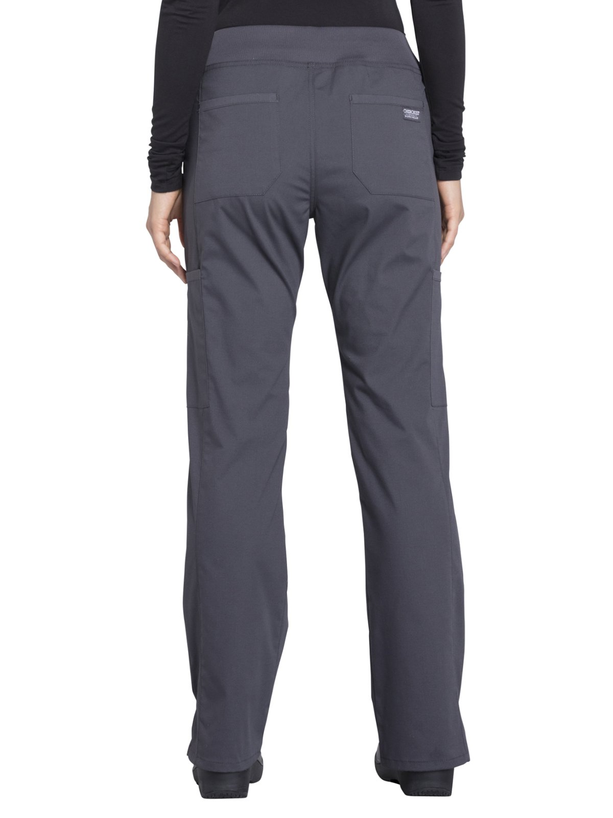 Cherokee Workwear Professionals WW170 Cargo Pant- Pewter- Medium Petite by Cherokee Workwear Professionals (Image #2)