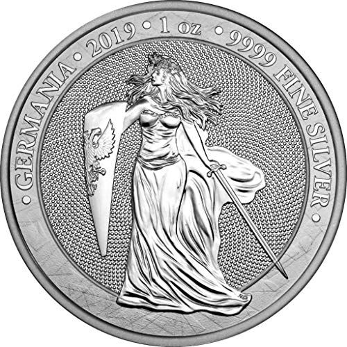Germany Silver Coin - 2019 DE BU GERMANIA 1 oz 999 Silver Coin $2 Uncirculated BM
