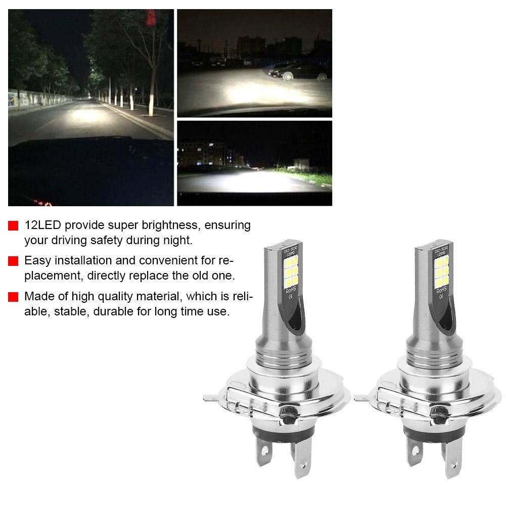 24W 12LED Lampadine per fari per motociclette con attacco H4 Yctze Faro per auto a LED da 2 pezzi