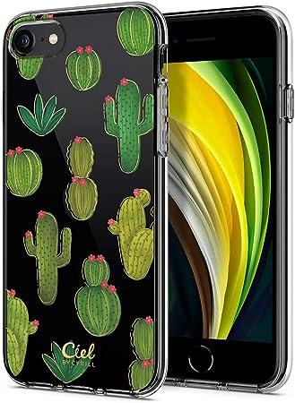Cyrill Cecile Kompatibel Mit Iphone Se 2020 Hülle Transparent Motiv Hart Pc Rückseite Mit Soft Silikon Bumper Handyhülle Durchsichtige Case Für Iphone 7 8 Iphone Se Kaktus Elektronik