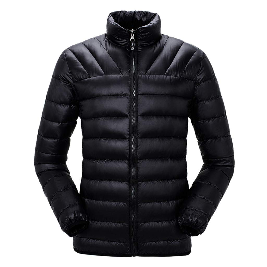 HebeTop  Men's Thermal Jacket Top Coat Falls 590 TurboDown Jacket, Thermal Reflective Warmth Black by HebeTop➟Men's Clothing