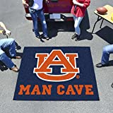 NCAA Auburn University Sports Team Logo Nylon Man Cave Tailgater Rug - 5' x 6'