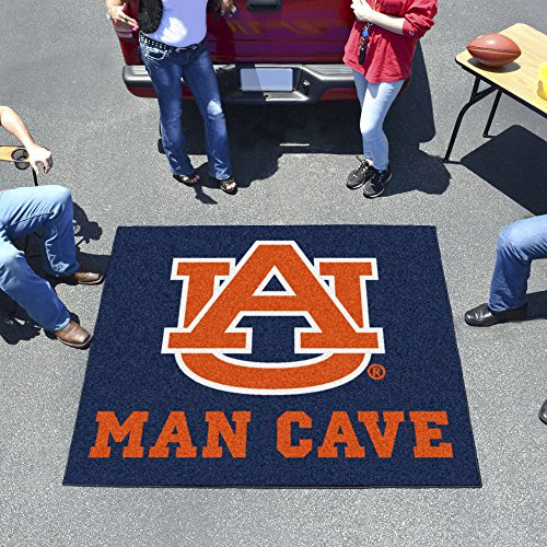 NCAA Auburn University Sports Team Logo Nylon Man Cave Tailgater Rug - 5' x 6' by Fanmats
