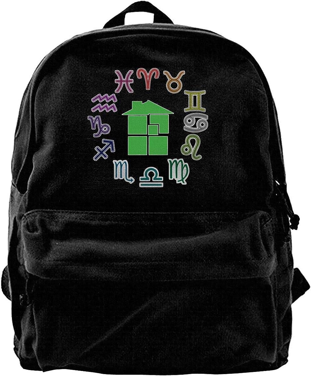 MIJUGGH Canvas Backpack Homestuck Symbol Rucksack Gym Hiking Laptop Shoulder Bag Daypack for Men Women