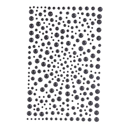 578d70110c Decora 325 Black Diamante Stick on Rhinestone Stickers Gems Cards and Self  Adhesive Craft Bling