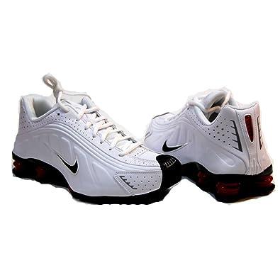 Nike Shox R4 White Black Varsity Red