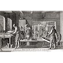 Ken Welsh / Design Pics – The Factory Of Abraham Van Wylick Showing The Silk Industry In Amsterdam In The 17Th Century. From Geschiedenis Van Nederland Published 1936. Photo Print (91.44 x 55.88 cm)
