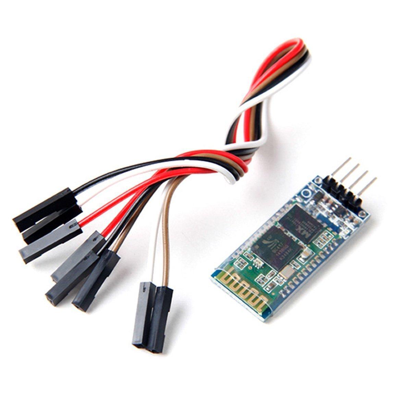 Neuftech Comunicación Serie Inalámbrica Bluetooth Serial transceptor del módulo HC-06 + Cable Dupont para