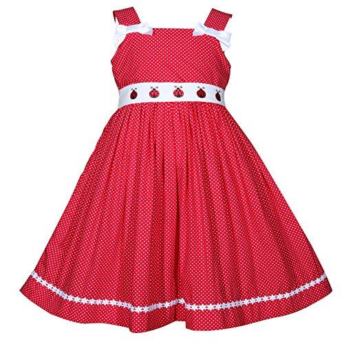 Treasure Box Kids Girls Red and White Polka Dot Ladybug - Polka Ladybug Dot White