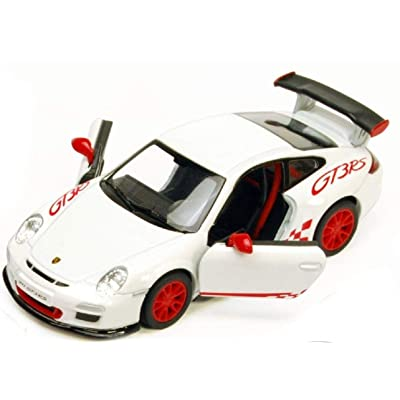 Porsche 911 GT3 RS Die Cast 1:36 Scale - White by Toysmith: Toys & Games