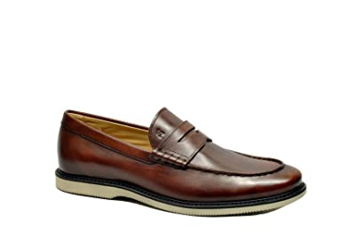 Men's HXM3120R7327X7G839 Brown Leather Loafers