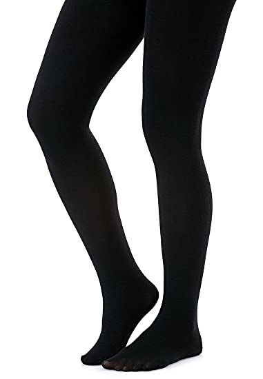 da73c44df7f99 Joanna Gray Women's 200 Denier Appearance Thermal Fleece Legging Tights  Large Black at Amazon Women's Clothing store: