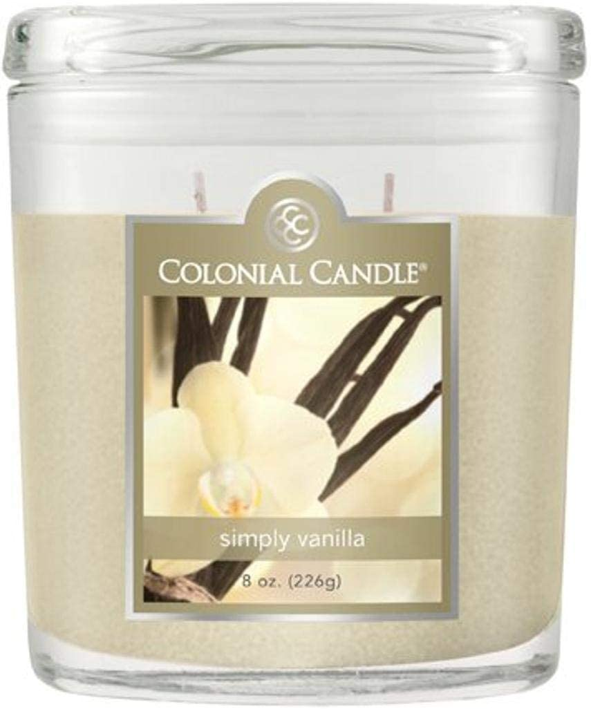 Colonial Candle Simply Vanilla Jar Candle, 8 oz, Ivory