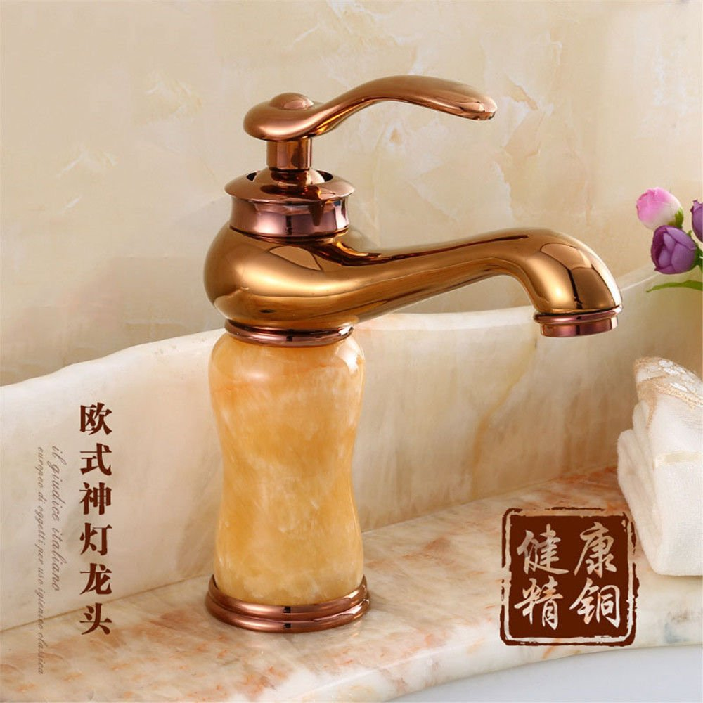 Hlluya Professional Sink Mixer Tap Kitchen Faucet The jade and cold water faucet basin mixer with high single hole basin mixer taps on the console, the 60cm Hose