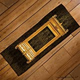 VROSELV Custom Towel Soft and Comfortable Beach Towel-picture gold frame with a decorative pattern Design Hand Towel Bath Towels For Home Outdoor Travel Use 27.6''x13.8''