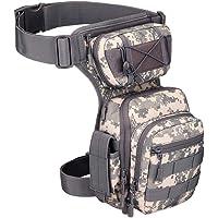 YFNT Exterior táctico Impermeable Pierna Bolsa Banana para Deporte Caminata Camping Militar Bolsa Molle cinturón Bolsa…