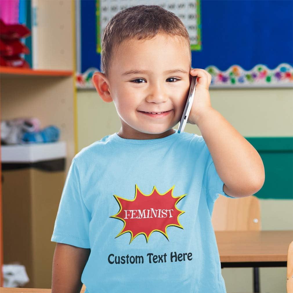 Custom Toddler T-Shirt Feminist Feminism Cotton Boy /& Girl Clothes