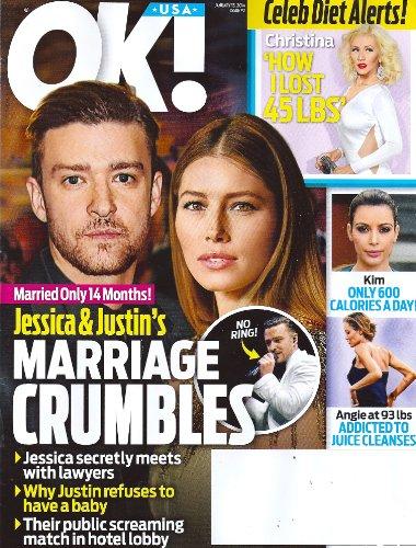Jessica Biehl, Justin Timberlake, Angelina Jolie, Kim Kardashian, Christina Aguilera, Amy Wilcox, Women of Country Special - January 13, 2014 OK! Magazine
