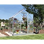 Palram-Harmony-6x4-Silver-Greenhouse-Clear-Polycarbonate-Aluminum-Frame-Base-Included