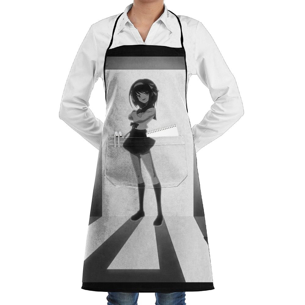 Lao Yang Mai Anime Black And White Girl Shadow BBQ Waiter Housekeeper Pet Grooming Bartender Kitchen Beautician Hairstylist Nail Salon Carpenter Shoeing Wood Painting Artist Pocket Apron