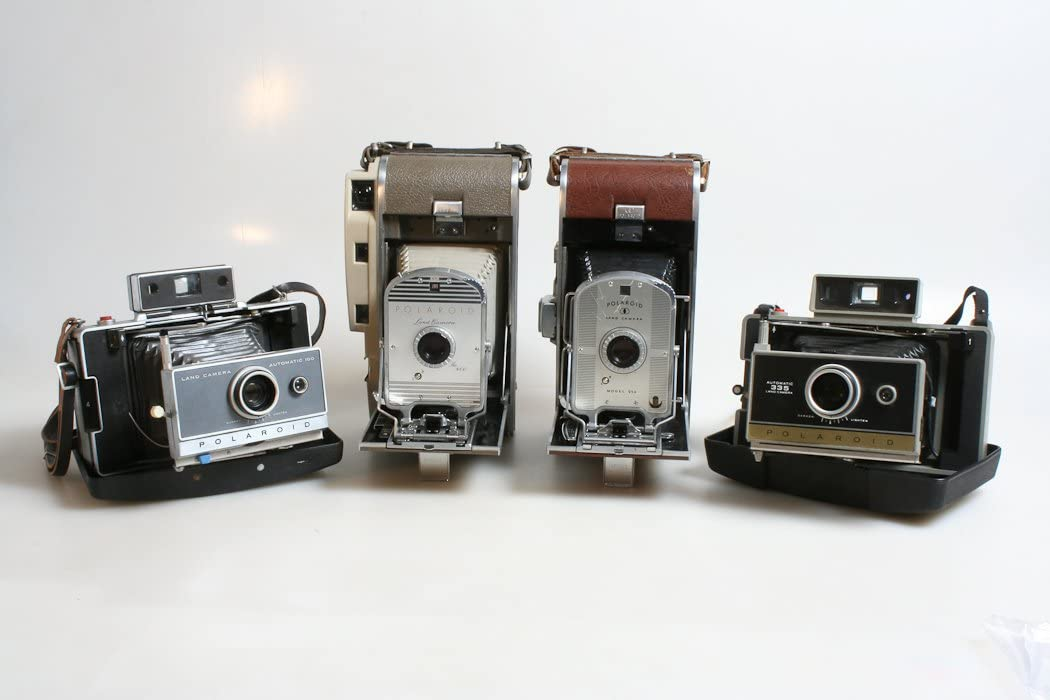 Polaroid Vintage cámaras, Lot de 4, Polaroid 95 A, 800, 100 y 335 ...