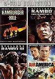 Rambo First Blood Part II, Rambo III, Air America, Hamburger Hill 4 Film Collection, DVD Set