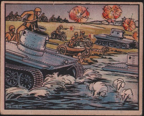 1938 Gum Inc Horrors of War (Non-Sports) Card# 132 Chinese Motorized Unit with Amphibious Tanks VG ()