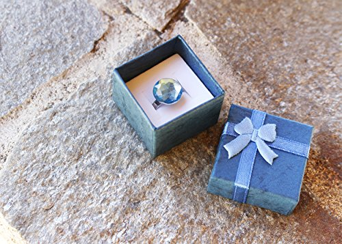 24-Piece Gift Box - Cube Ring Box for Weddings, Birthdays, Colors - 1.6 1.2 Inches