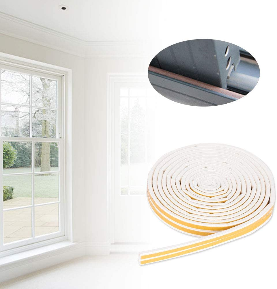 Rubber Self-adhesive Door Window Sound Insulation Sealing Strip Rubber Seal 5 Meters 96mm EPDM White
