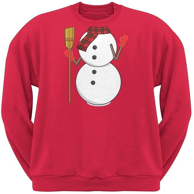 1e68a0cec3 Amazon.com  Old Glory Snowman Body Costume Red Crew Neck Sweatshirt ...