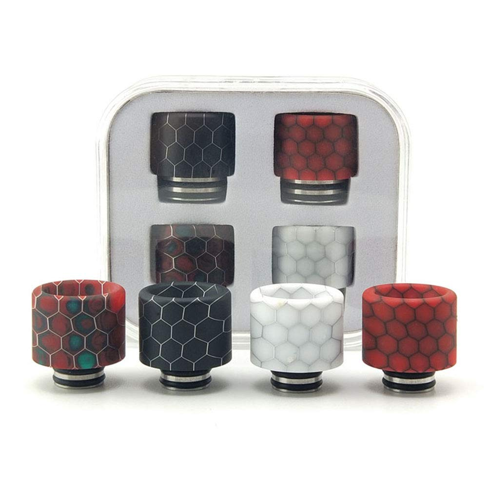 Universally Standard Stainless Steel Harz Drip Tip Connector for Ice Maker Mod 4 Kit Satelliter 810 Drip Tip 510 Drip Tip
