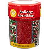 Food Items Sprinkle Mix, Traditional Christmas, 6-Cell
