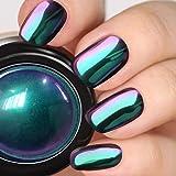 PrettyDiva Chameleon Chrome Nail Powder - Ombre Chrome Nail Pigment Powder Mirror Finish, Color Shifting Pigment with…
