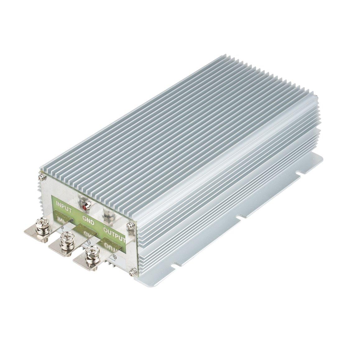 uxcell NEW High-Power Voltage Converter Regulator DC 24V Step-down to DC 12V 85A 1020W Car Truck Power Buck Transformer