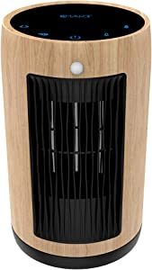 XBUTY Ceramic Space Heater - 1500W Portable Heater with Multi-protection and 3500R/M High-speed Fan, 3 Settings, PA66, Smart PIR, ETL Listed,for Home and Office