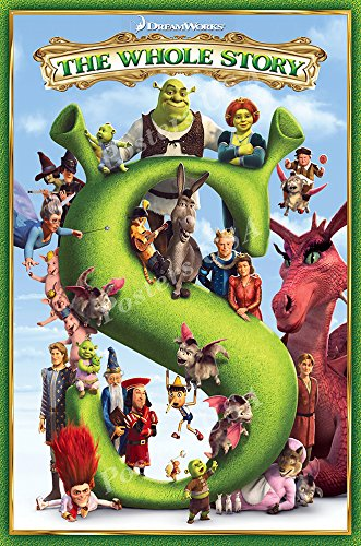 (Posters USA - Shrek 1 2 3 Movie Poster GLOSSY FINISH - MOV353 (24