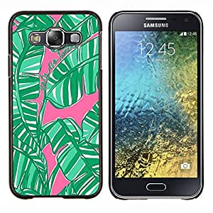 LECELL--Funda protectora / Cubierta / Piel For Samsung Galaxy E5 E500 -- Jungle Naturaleza rosado de la acuarela --
