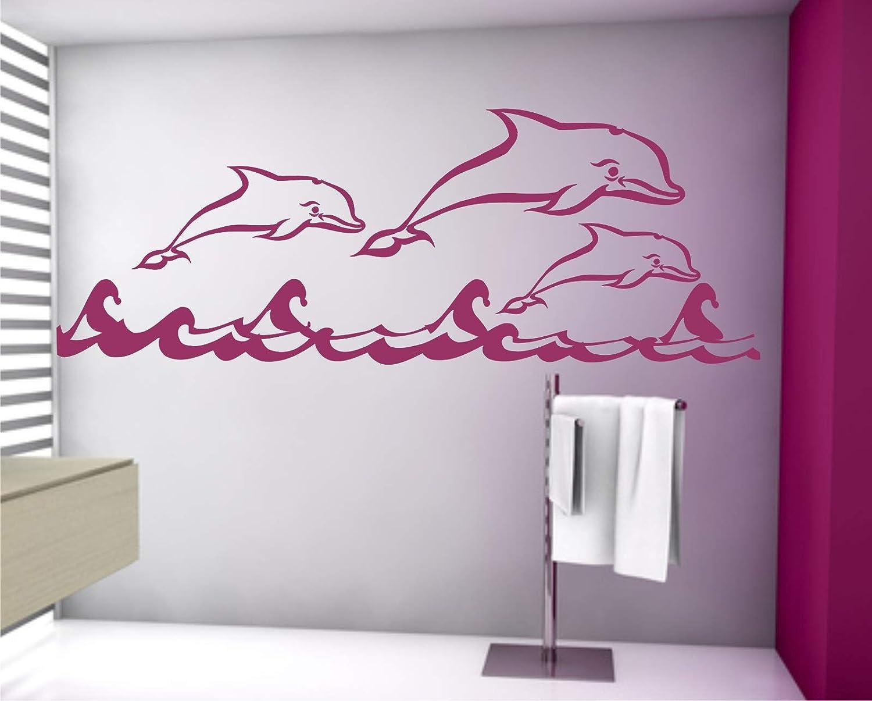 WERBUNGkreativ Wandtattoo Delfin Delfin Delfin Delphin Aufkleber Wandaufkleber 100 x 250cm in 33 Farben matt oder glänzend B06XPDWFS3 Wandtattoos & Wandbilder 004c3e