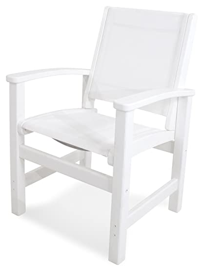 Amazing Amazon Com Polywood 9010 Wh901 Coastal Dining Chair White Dailytribune Chair Design For Home Dailytribuneorg