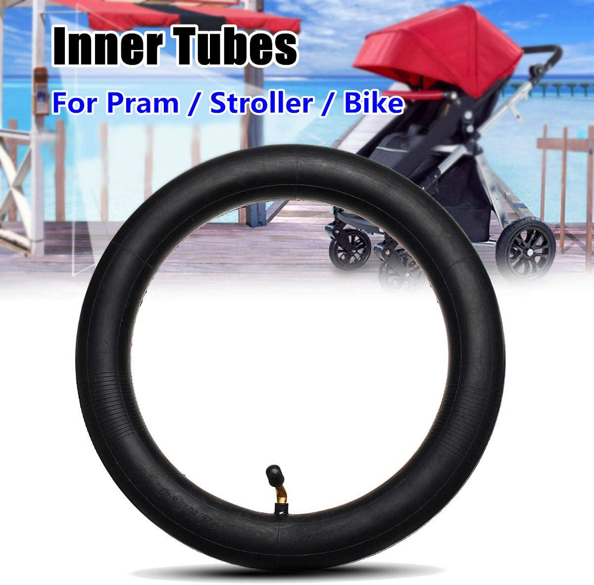 Inner Tube Bent Valve For Hota  Pram Stroller Kids Bike 12 1//2 x 1.75 x 2 1//4 !