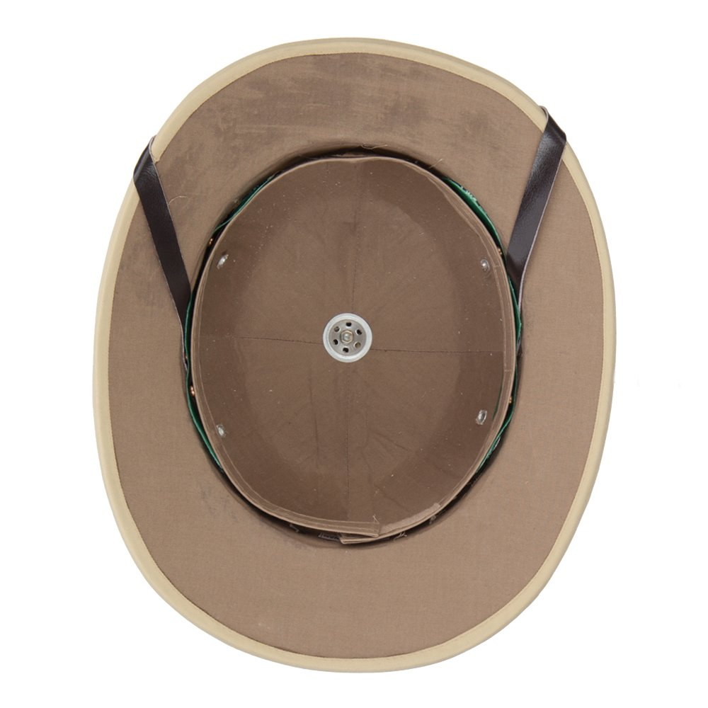 faf12667a4d86 Indian Genuine Tree Bark Pith Helmet - Khaki OSFM at Amazon Men s Clothing  store  Hats