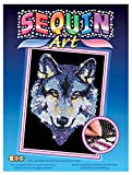 Sequin Art Blue, Wolf, Sparkling Arts and Crafts Picture Kit; Creative Crafts for Adults and Kids