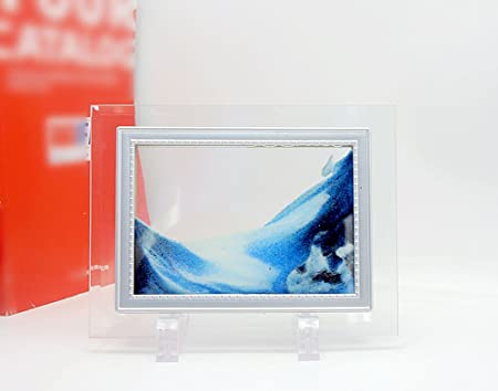 PROW® 3D Dynamic Sand Picture Mini Size Glass Frame Smoothly Motion ...