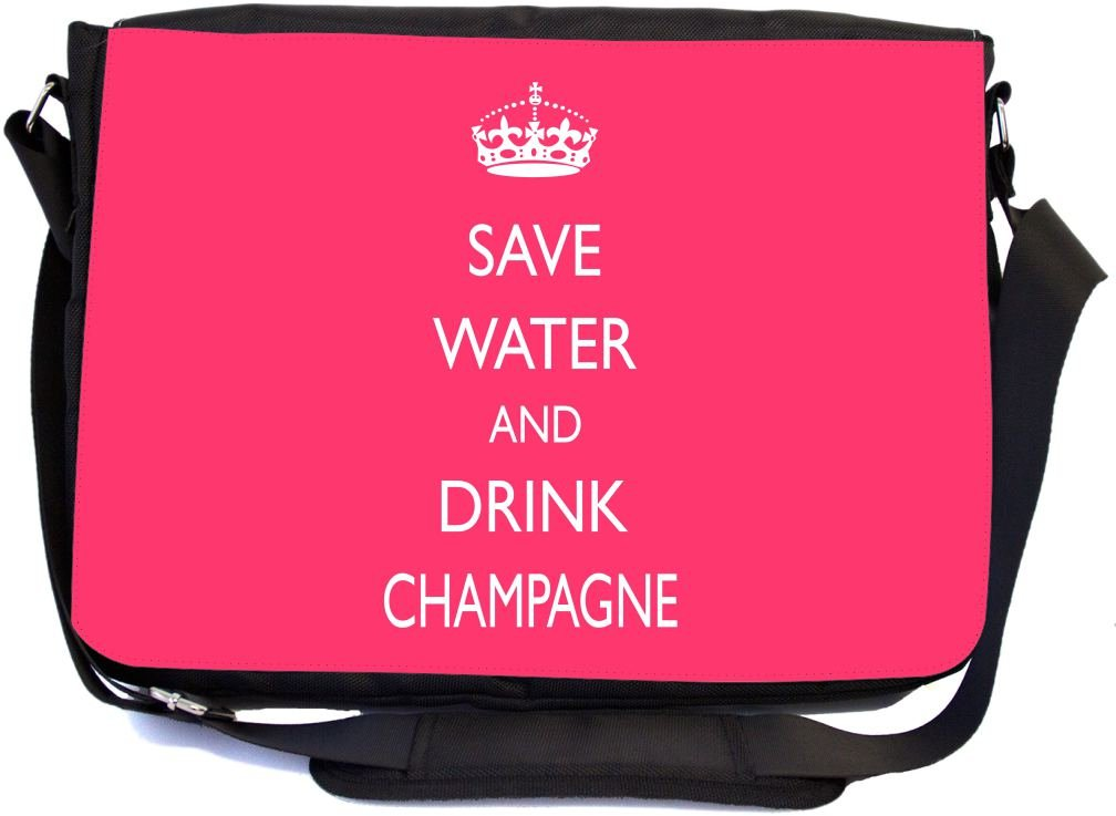046a37f0c631 Rikki Knight Save Water and Drink Champagne Tropical Pink Design  Multifunctional Messenger Bag - School Bag