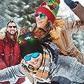 LED Light Up Knitted Ugly Sweater Holiday Xmas Christmas Beanies - 3 Flashing Modes