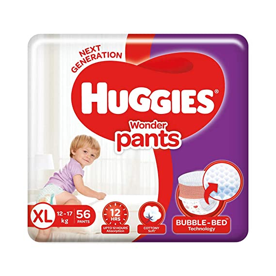 Huggies Wonder Pants Diapers, Extra Large (56 Count)