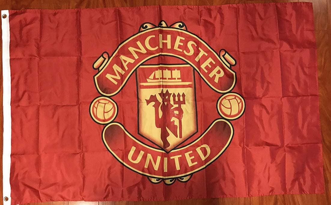 Amazon Com Manchester United Flag Banner 3x5 Ft England Premier Futbol Soccer Team Fan Everything Else