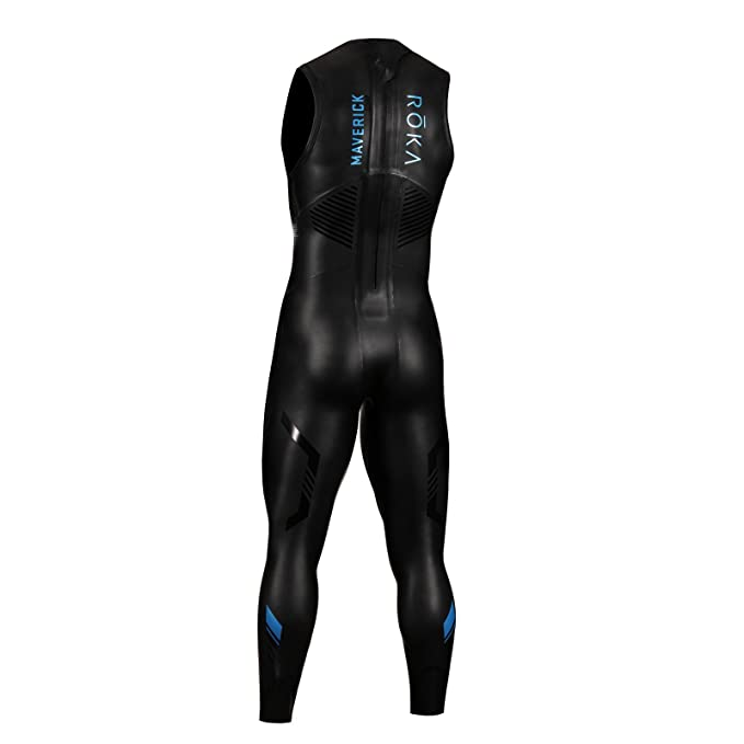 ROKA Maverick Comp II Sleeveless Mens Wetsuit for Swimming and Triathlons